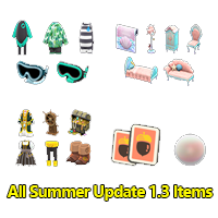 All Summer Update 1.3 Items