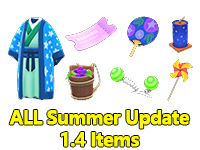 All Summer Update 1.4 Items