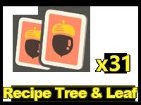 Recipes: Tree & Leaf x31