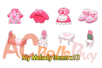 My Melody Items ×13