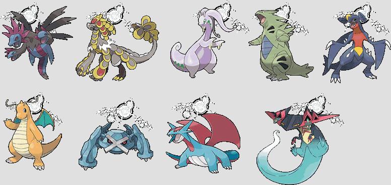 9 x Pseudo-legendary Pokemon