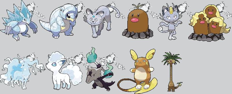 11 x Alola Pokemon