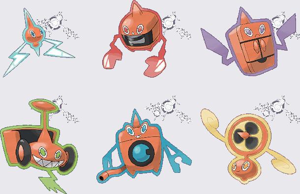 6 x Rotom Pokemon