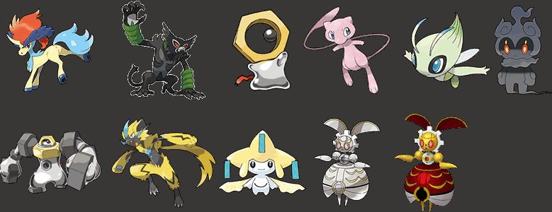 11 x Mythical Pokemon