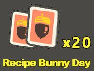 Recipes: Bunny Day x20