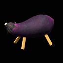 Eggplant cow