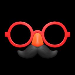 stache & glasses