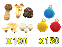 All Mushroom & Ornament