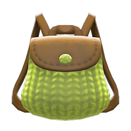knitted-grass backpack