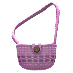 hand-knit pouch