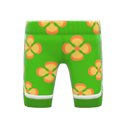 silk floral-print pants