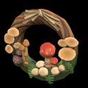 mushroom wreath