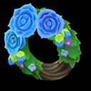 Recipe: blue rose wreath
