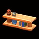 log decorative shelves