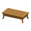 rattan low table