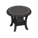 rattan end table