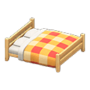 Recipe: wooden double bed