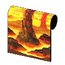 magma-cavern wall