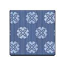 blue floral flooring