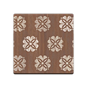 brown floral flooring