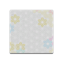 hexagonal floral flooring