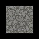 skull-print flooring