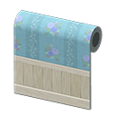 blue blossoming wall