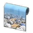 garbage-heap wall