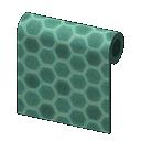 green honeycomb-tile wall