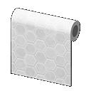white honeycomb-tile wall