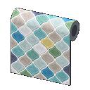 blue desert-tile wall