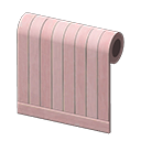 pink painted-wood wall