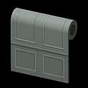 gray molded-panel wall