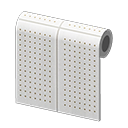 white perforated-board wall