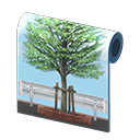 tree-lined wall