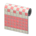 peach two-toned tile wall