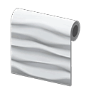wavy-tile wall