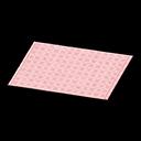 simple pink bath mat