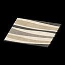monochromatic wavy rug