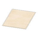 white simple small mat