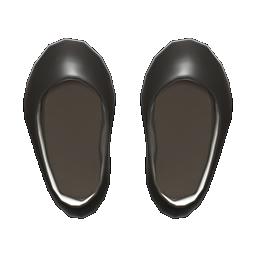 vinyl round-toed pumps
