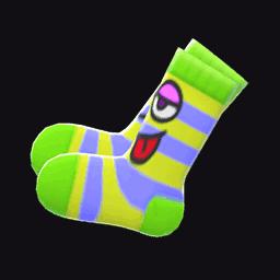 funny-face socks