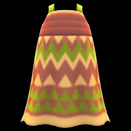 zigzag-print dress