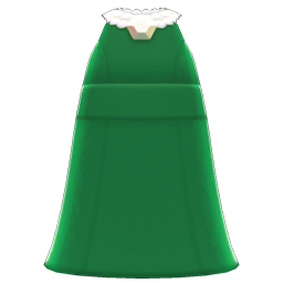 full-length dress with pearls