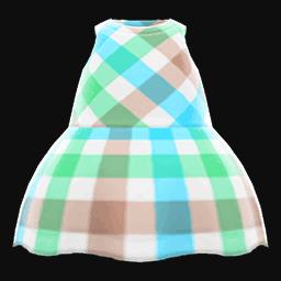 plaid-print dress