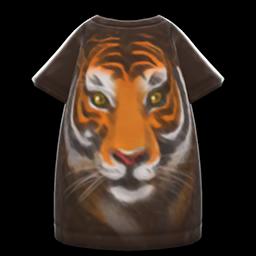 tiger-face tee dress