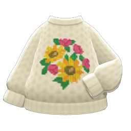 Mom's hand-knit sweater