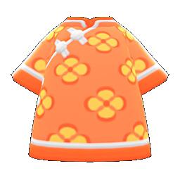 silk floral-print shirt